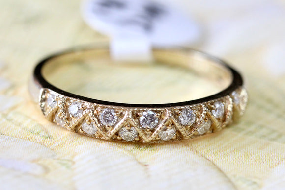Full of Sparkle ~ Diamond Wedding Band