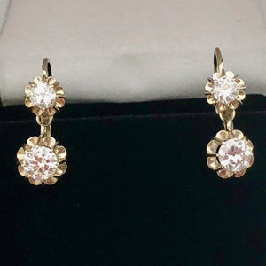 Antique. French Diamond Earrings