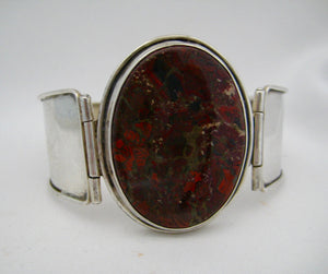 Sterling Agate Bangle