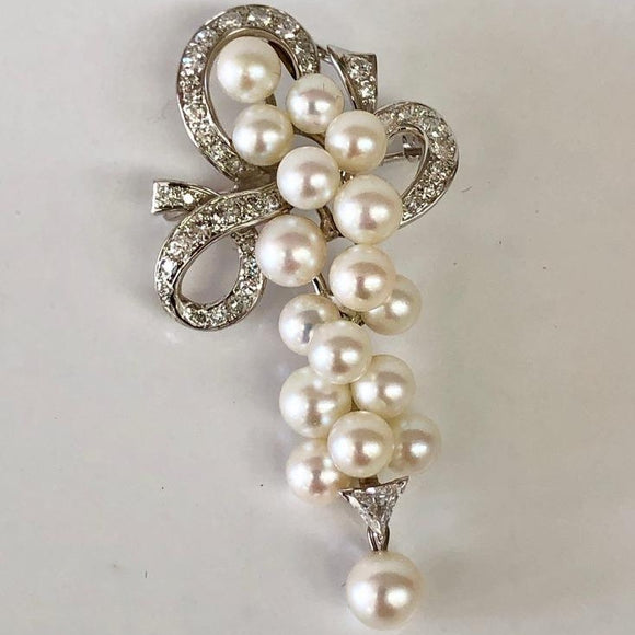 Diamond and Pearl Pin/Pendant