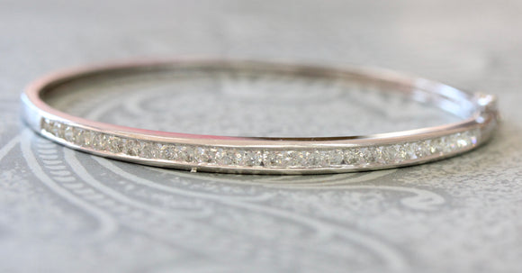 Diamond Bangle Bracelet ~ Estate