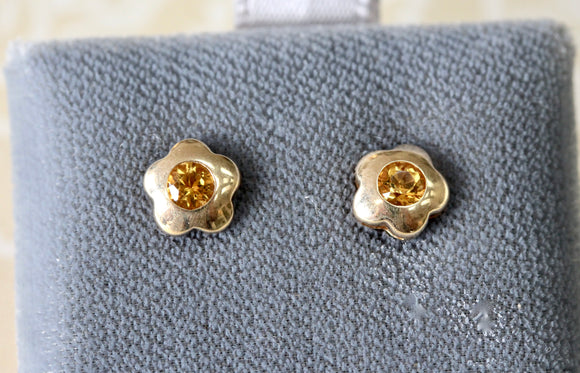 Dainty ~ Citrine Stud Earrings