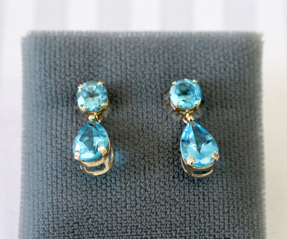 Sweet ~ Pair of Blue Topaz Earrings