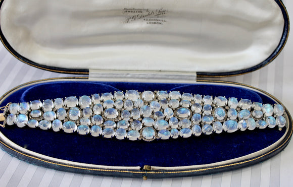 Fascinating ~ Moonstone & Diamond Bracelet ~ WOW