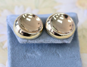 Contemporary ~ Round Gold Earrings