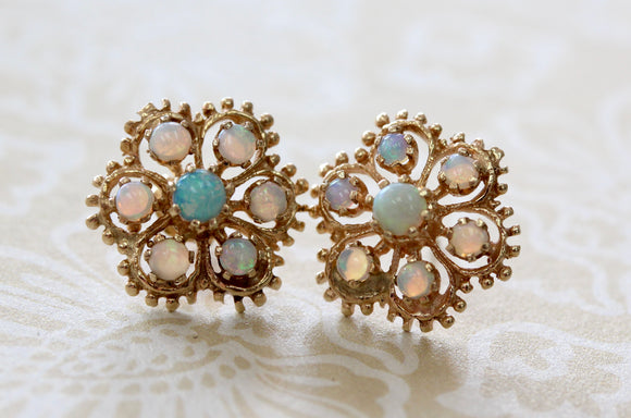 Playful ~ Opal Earrings