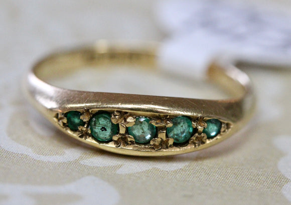 Antique ~ Petite Emerald Ring
