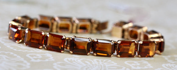 Gorgeous & Colorful ~ Madeira Citrine Gemstone Bracelet