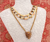 Elegant Antique Pendant and Chain, Circa 1890