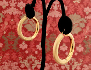 Double Texture Hoop Earrings