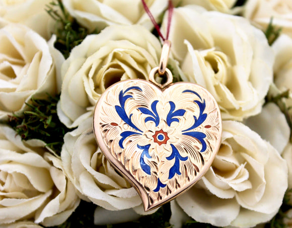 Romantic ~ Enamel Heart Locket