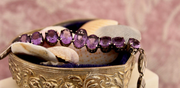 Sterling and Amethyst Bracelet