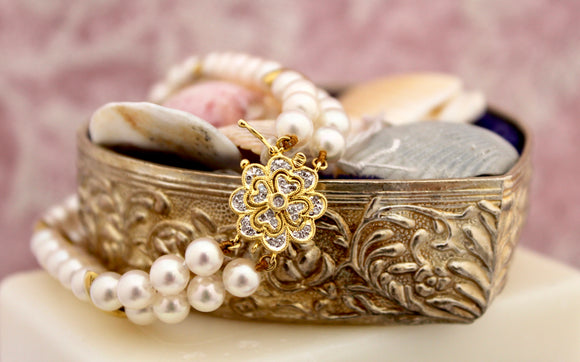 Lovely ~ Pearl & Diamond Bracelet