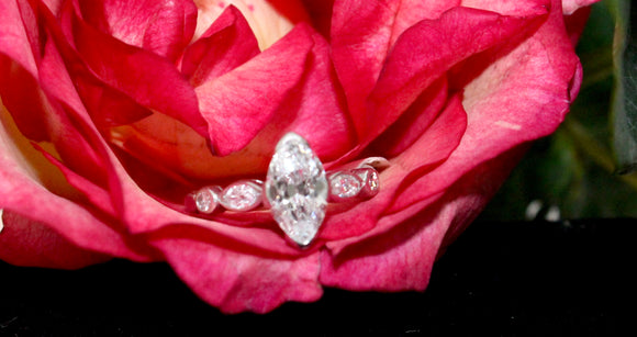 Beautiful ~ 1.25 Carat Marquise Diamond Ring, Platinum