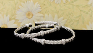 Trendy ~ Set of sterling Bangles
