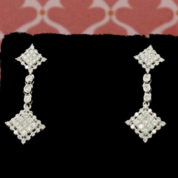 Sparkling & Fun Diamond Drop Earrings