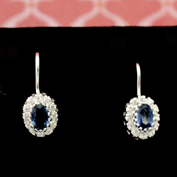 Lovely ~ Sapphire & Diamond Earrings