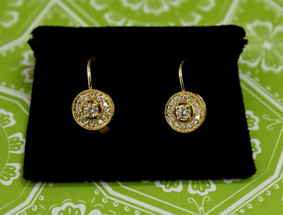 Lovable - Gold & Diamond drop Earrings