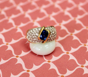 Fantastic ~ Contemporary Sapphire & Diamond Ring