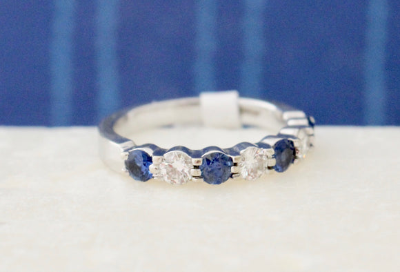 Striking ~ Sapphire & Diamond Ring