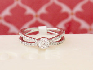 Lovely ~ Diamond Engagement Ring with a Contemporary Flare