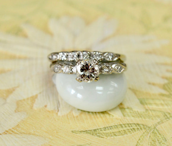 Exciting ~Engagement Ring & Diamond Band Set