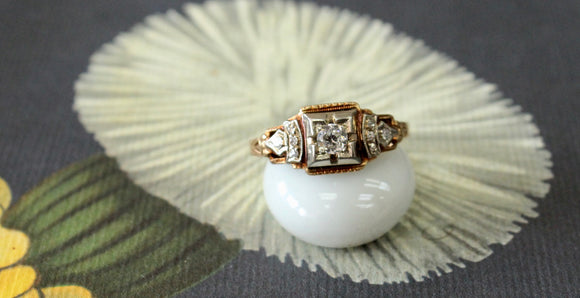 Vintage ~ Lovely Diamond Ring