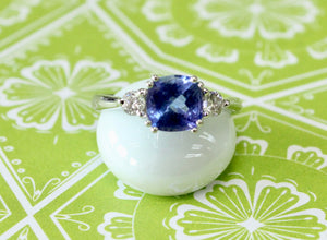 Whimsical ~ Tanzanite & Diamond Ring