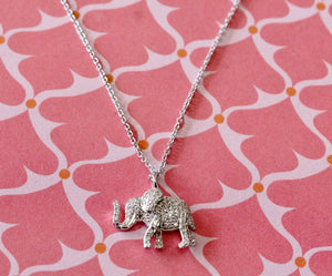 Dainty & Adorable ~ Diamond elephant Necklace