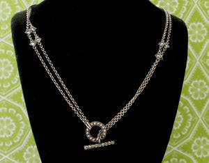 Chic ~ Sterling Silver & Marcasite Necklace