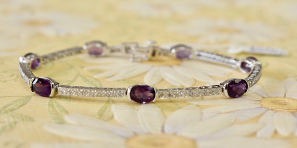 Amethyst and Diamond Bracelet