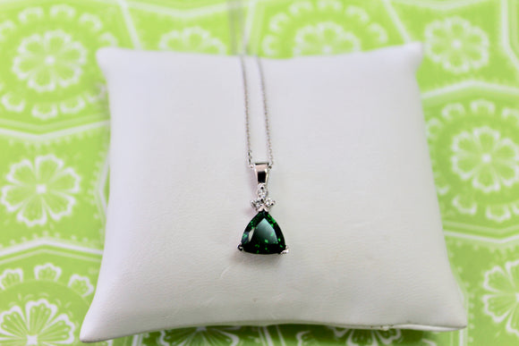 Distinctive ~ Chrome Tourmaline & Diamond Neckpiece