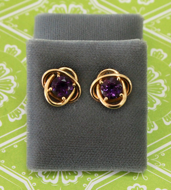 Precious ~ Amethyst Stud style earrings