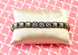 Antique ~ Forget- Me-Not ~ Diamond & Enamel Bracelet