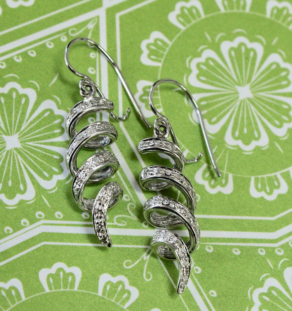 Stylish ~ Twisted Diamond Earrings