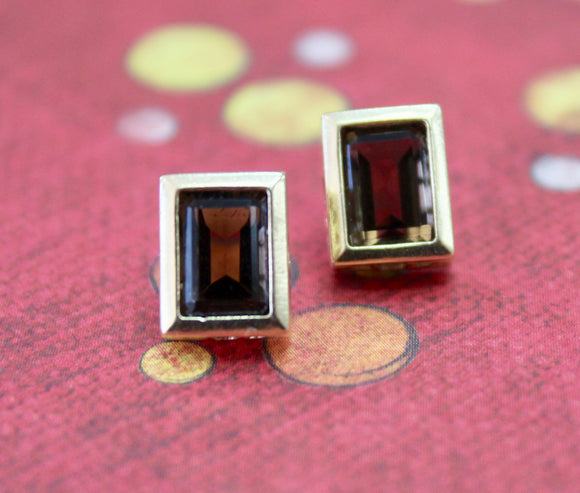 Delightful & Elegant ~ Smoky Quartz Stud Earrings