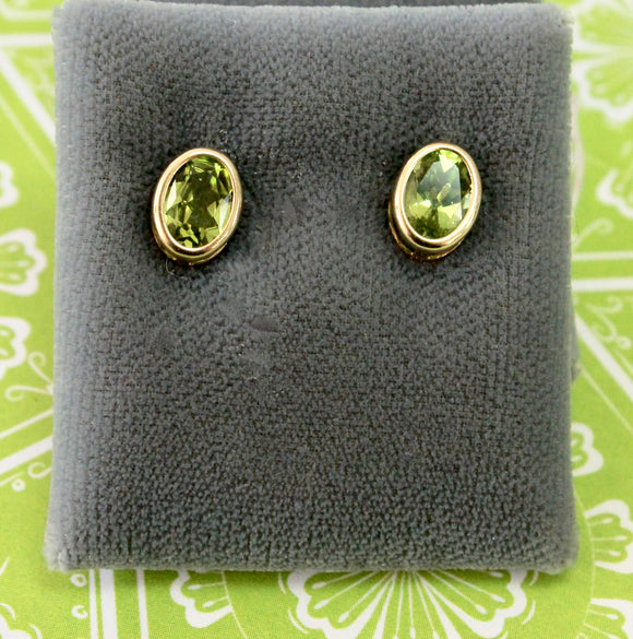 Pretty ~ Peridot stud style earrings