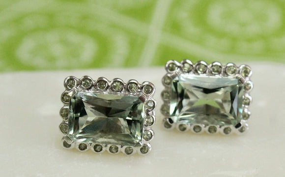 Gorgeous ~ Green Amethyst Earrings