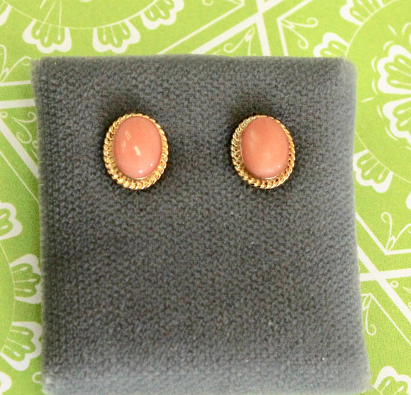 Precious ~ Pair of Coral earrings