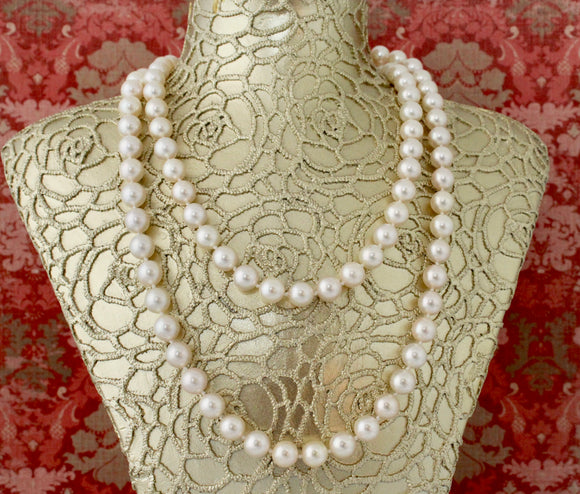 Timeless ~ Cultured Pearls Necklace, 18