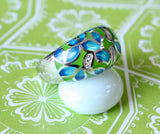 Colorful & Cheery ~ Sterling Enamel Ring