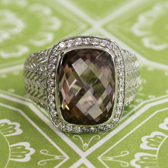 Fun & Glitzy ~ Kunzite & Sterling Ring