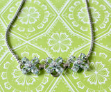 Charming & Cheerful Aquamarine and Diamond Necklace