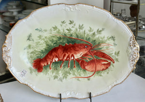 Antique ~ Collectible 11 Piece Lobster Dinnerware/serving Set, Limoges - France
