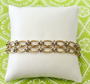 Striking ~ Two Tone Bracelet