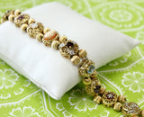 Charming & Fun ~Multi-Stone and Gold Slide Bracelet