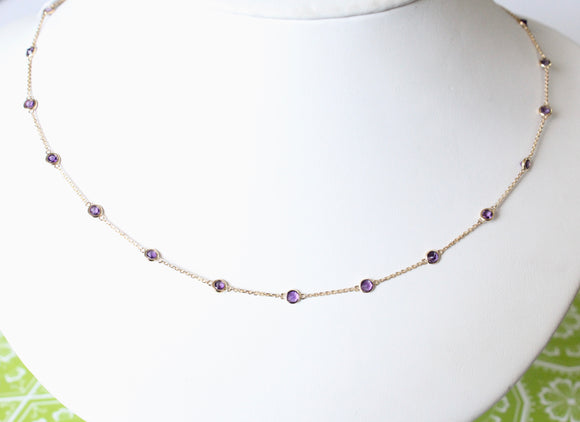 Sweet & Alluring ~ Amethyst Necklace with adjustable lengths