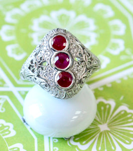 Beautiful ~ Bezel Set Ruby Ring