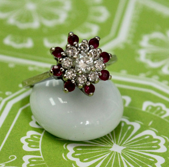 Cheerful & Fun ~ Ruby & Diamond Ring
