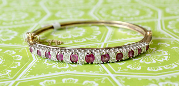 Dazzling ~ Ruby and Diamond Bangle